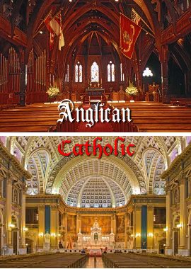 the distinctions between the catholics and episcopalians The anglican church traces its roots to the 1530s, when king henry viii  renounced his allegiance to the pope and the catholic church,.